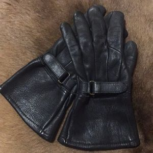 Gauntlet Leather Riding Gloves XS